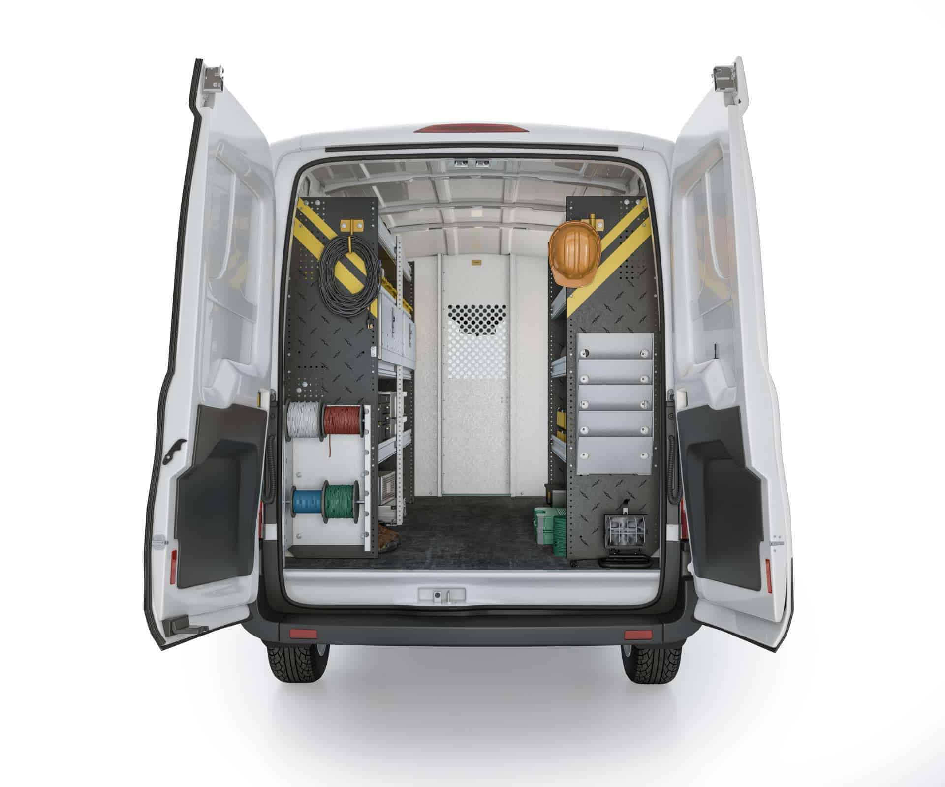 Ford Transit Electrical Package, FTM-11 Installed, Rear View