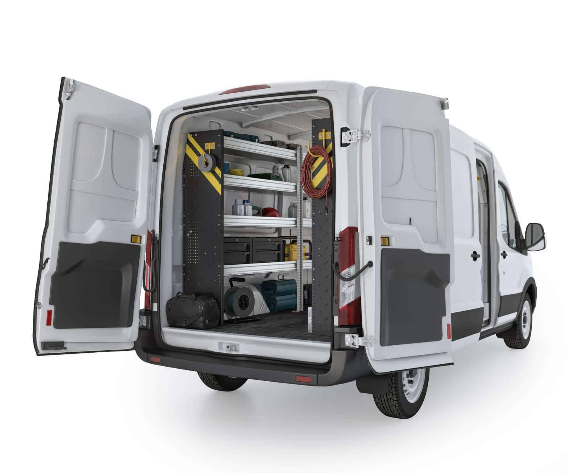 Ford Transit Mobile Service Package, FTM-16 Installed, Rear Driver View