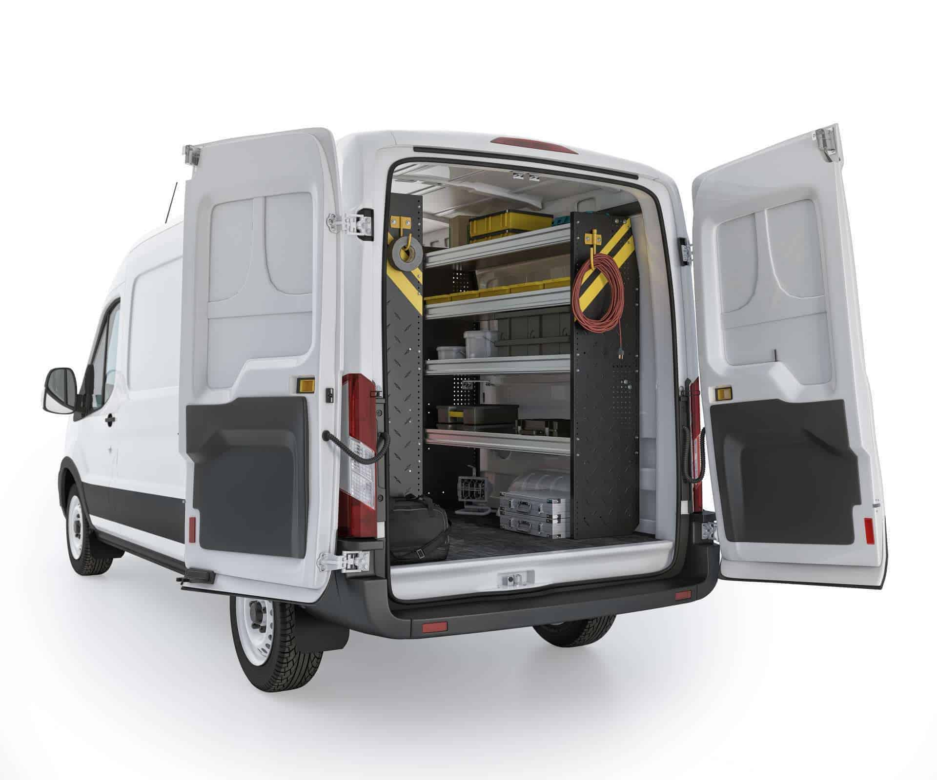 Ford Transit Mobile Service Package, FTM-16 Installed, Rear Passenger View