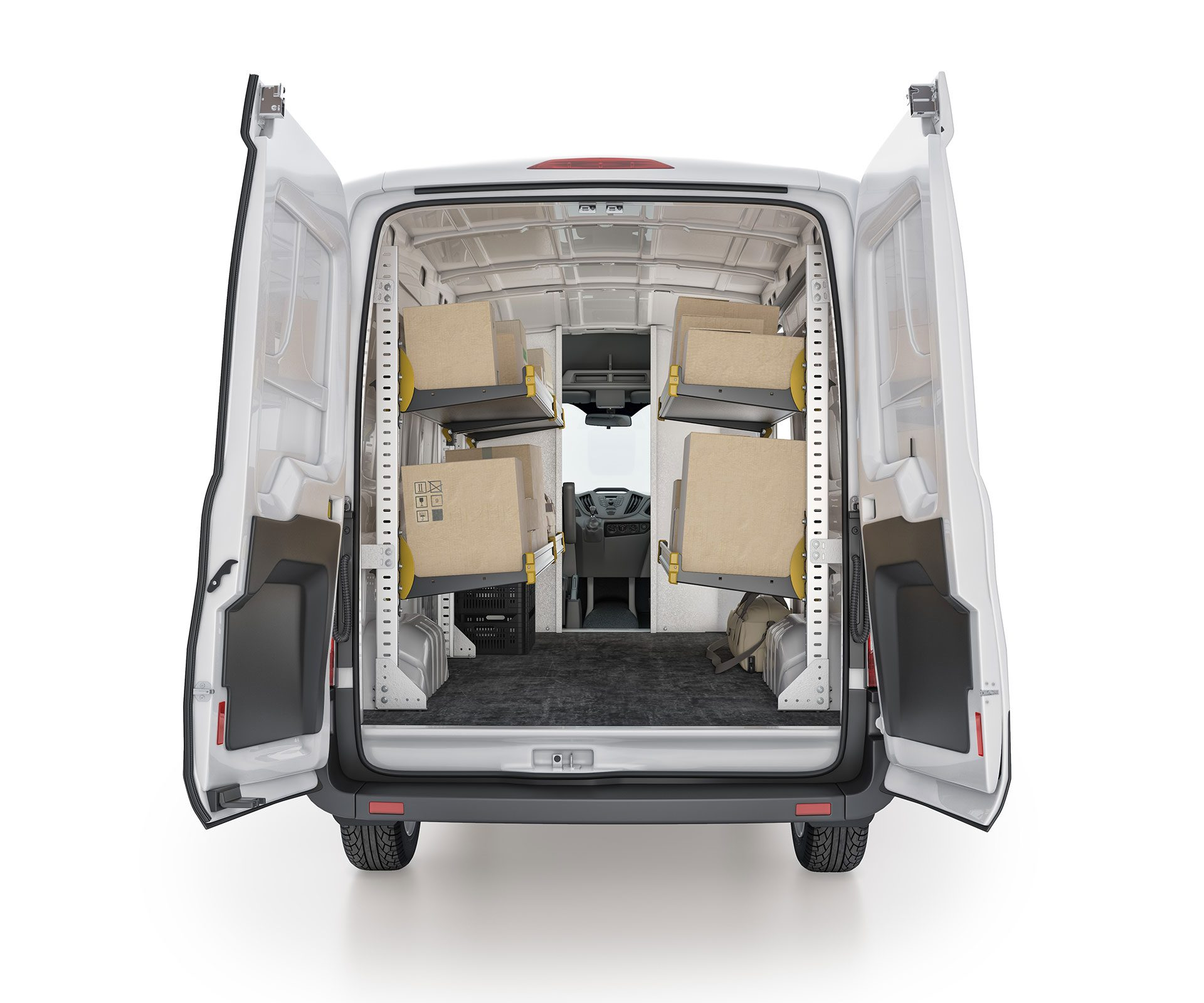 Ford Transit Delivery Package, FTM-19 Installed, Rear View