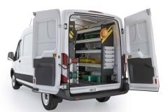 Ford Transit Electrical Package, FTM-11 Installed, Rear Passenger View