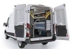 Ford Transit  HVAC Package, FTM-12 Installed, Rear Passenger View