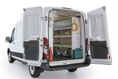 Ford Transit Aluminum Package, FTM-27 Installed, Rear Passenger View