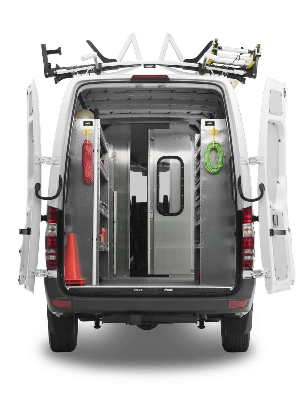 Sprinter Van Partition, Rear View