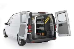 Mercedes Metris  Contractor Package, MML-10 Installed, Rear Passenger View