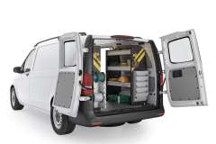 Mercedes Metris Electrical Package, MML-11 Installed, Rear Passenger View