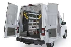 Nissan NV Contractor Package, NVH-10 Installed, Rear Driver View