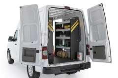 Nissan NV Contractor Package, NVH-10 Installed, Rear Passenger View