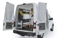 Nissan NV Electrical Package, NVH-11 Installed, Rear Driver View