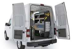Nissan NV HVAC Package, NVH-12 Installed, Rear Passenger View