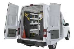 Nissan NV Mobile Service Package, NVH-16 Installed, Rear Driver View