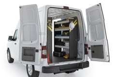 Nissan NV Mobile Service Package, NVH-16 Installed, Rear Passenger View