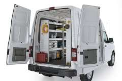 Nissan NV Aluminum Package, NVH-27 Installed, Rear Driver View