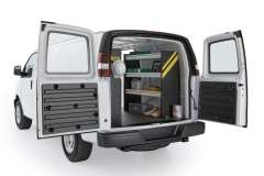 Savana/Express Contractor Package, GSR-10 Installed, Rear Passenger View