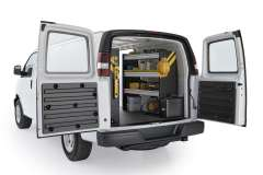 Savana/Express Mobile Service Package, GSR-16 Installed, Rear Passenger View