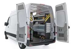 Mercedes Sprinter HVAC Package, DHS-12 Installed, Rear Passenger View