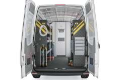 Mercedes Sprinter HVAC Package, DHS-12 Installed, Rear View