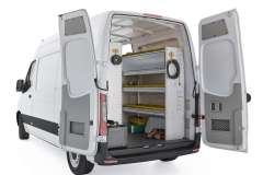 Mercedes Sprinter Aluminum Package, DHS-27 Installed, Rear Passenger View