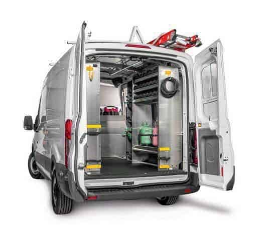 Refrigerant Racks for Vans plus Storage Bins