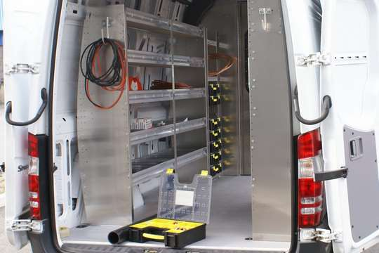 Ranger Design Van Shelving and Storage Bin Systems