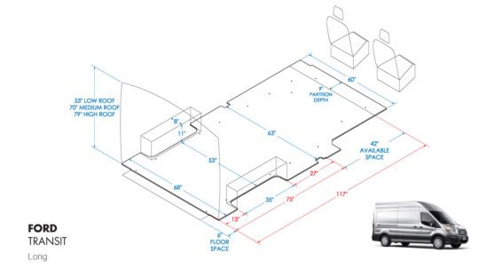 Long Ford Transit Shelving Layout Guide