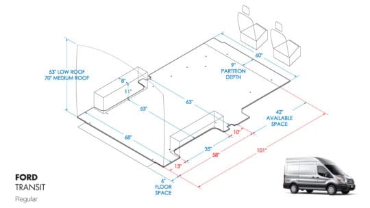 Regular Ford Transit Shelving Layout Guide