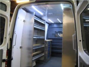 New Sprinter Cargo Van Interior Using Ranger Products