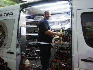 Pleased with his new cargo van interior