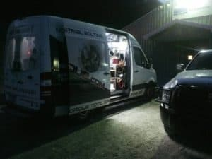 Cargo Van In The Shop