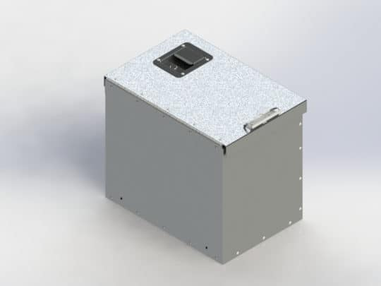 "Cab box with locking lid, aluminum, 18""d x 12""w x 16""h Click to enlarge"