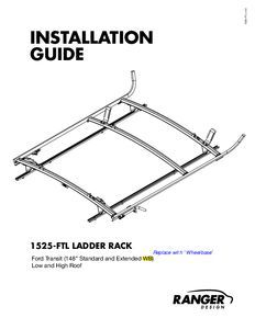 thumbnail of 1525 FTL – Ladder Rack Installation Guide