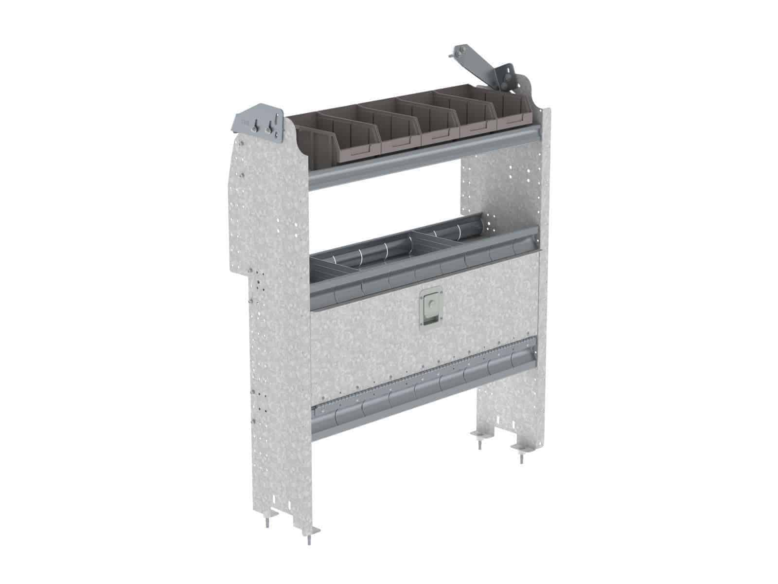 Van-Storage-Bins-With-Contoured-Back-Unit-Ford-Transit-Connect-H36-E