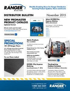 thumbnail of Ranger Distributor Bulletin – November 2015