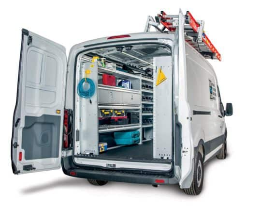 "Service Package, Steel, Transit 148"" Long Wheel Base, Medium Roof / High Roof Click to enlarge"