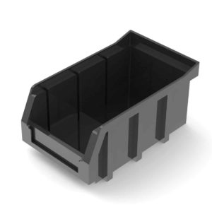Small Stackable Bin Black, #6211