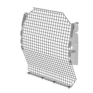 Contoured-Wire-Mesh-Van-Partition-Steel-Nissan-NV200-C13-W