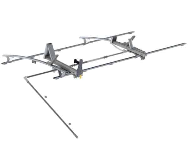 Single-Side-Max-Rack-Aluminum-2-Bar-Ram-ProMaster-159-Wheelbase-Extended-1820-PHX