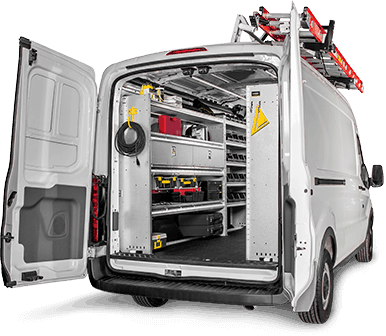 Mobile Service Van Shelving Package Ford Transit, Z16-F4