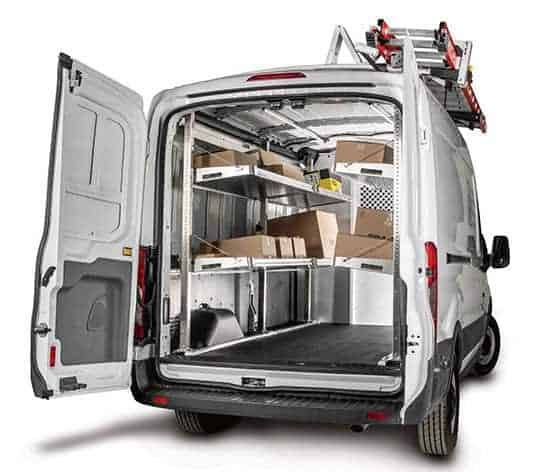 Ford Transit Delivery Van Shelving Package (F419) With Ladder Rack