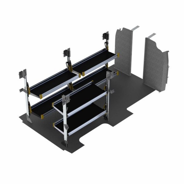 "Delivery Van Shelving Package, Chevrolet Express, 155"" WB - GSL-19"