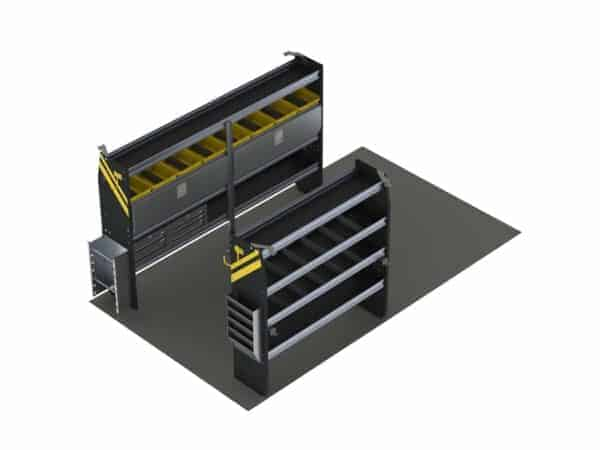 Electrician Van Shelving Package, 10' Box Truck/Cube Van or Enclosed Trailer. Model: BTS-11