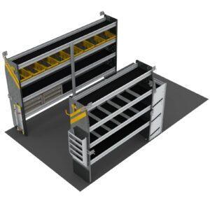 HVAC Van Shelving Package, 10' Box Truck/Enclosed Trailer - BTS-12