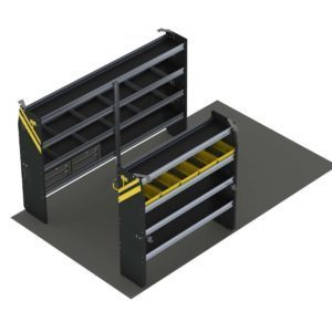 Service Van Shelving Package, 10' Box Truck/Cube Van or Enclosed Trailer. Model: BTS-16