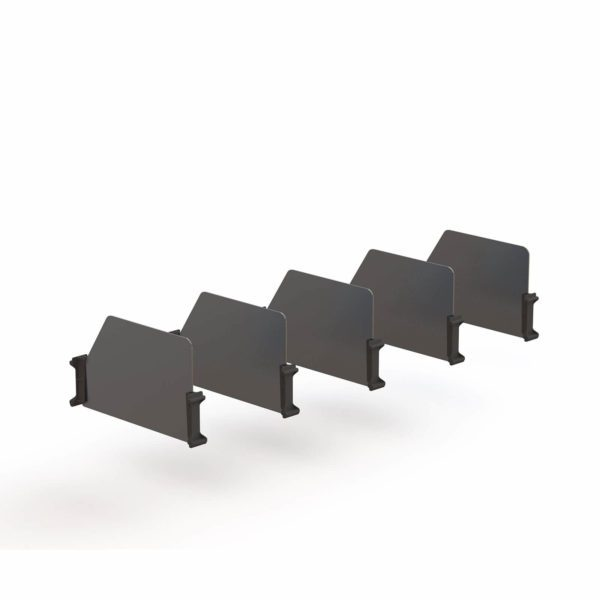 "Van Shelving Set of 5 High Dividers with Clips, 16"" Depth"