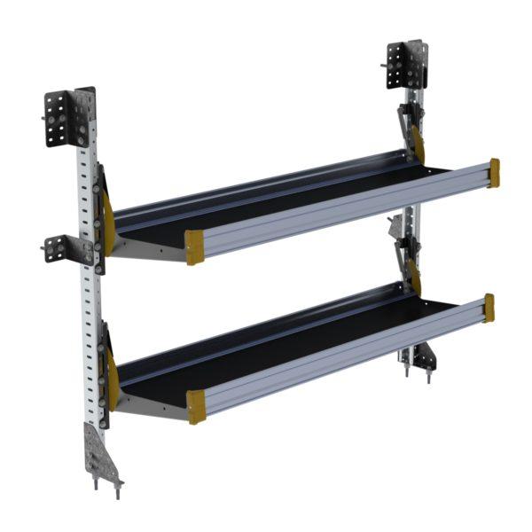 "Fold-Away Cargo Van Foldable Shelving System, 2 Levels, 51""h x 60""w"