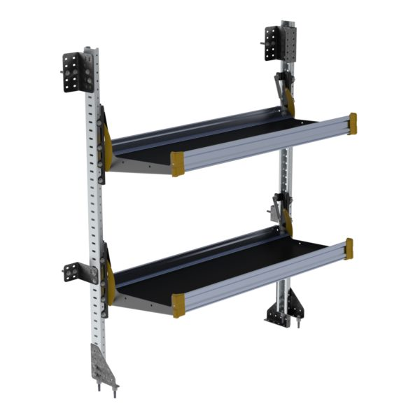 "Fold-Away Cargo Van Foldable Shelving System, 2 Levels, 65""h x 48""w"