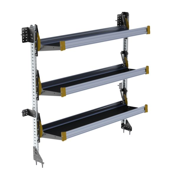 "Fold-Away Cargo Van Foldable Shelving System, 3 Levels, 65""h x 60""w"