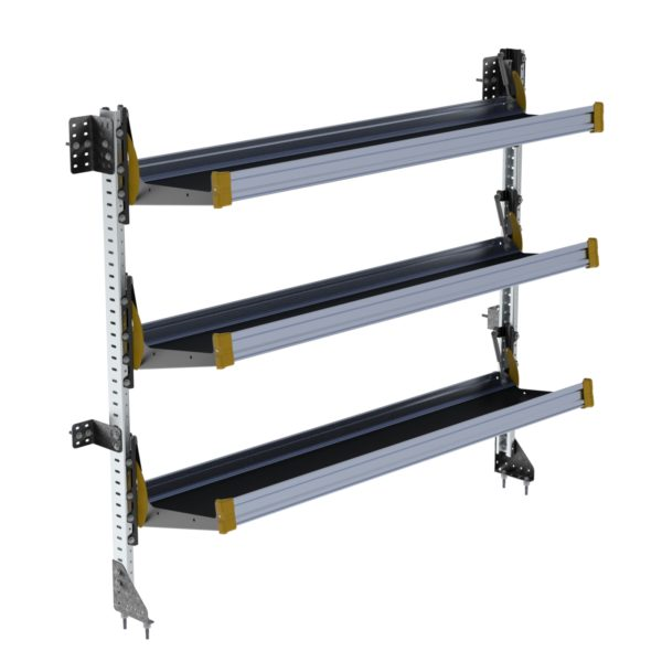 "Fold-Away Cargo Van Foldable Shelving System, 3 Levels, 65""h x 72""w"