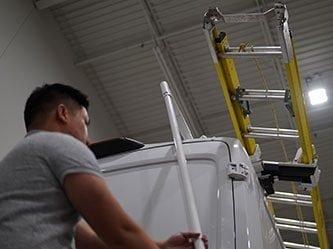 One Person Ladder Rack Operation