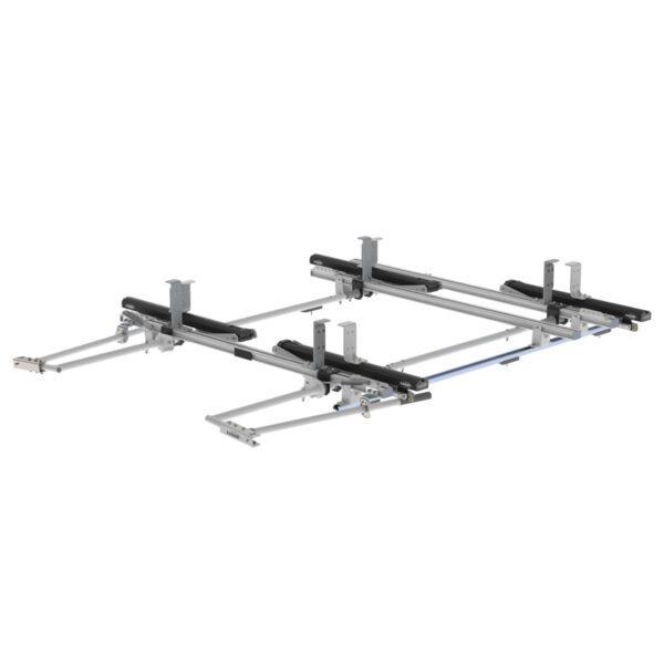 Max Rack 2.0 Drop Down Ladder Rack, Double Side, 3 Bar, Ford Transit LR RWB - 1850-FTR3